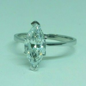 NEW SOLITAIRE 14KT WG 1.7 CARAT SIZE 7